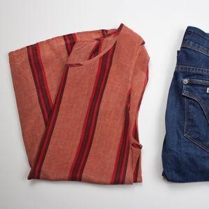 Lucky Brand Silk, split back blouse